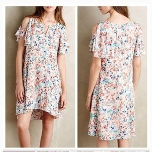 Maeve Anthropolgie Watercolor Flutter Dress
